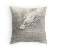 Platypus sketch - pencil Throw Pillow
