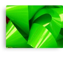 Really Green Bow Canvas Print