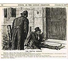 Festive Season Drunk Punch Cartoon 1888 Photographic Print