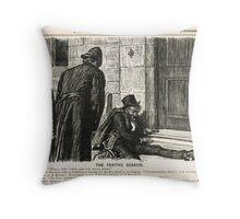Festive Season Drunk Punch Cartoon 1888 Throw Pillow