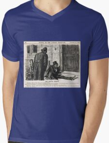Festive Season Drunk Punch Cartoon 1888 Mens V-Neck T-Shirt