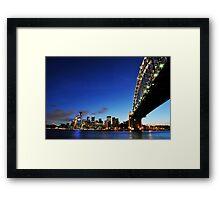 Harbour Bridge Vs The City  Framed Print