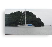 A lonely boat Canvas Print