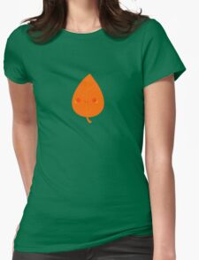 Cute autumn leaf Womens Fitted T-Shirt