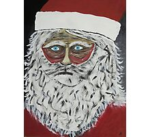 Santa Stressed Out Photographic Print