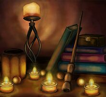 Wizards Still Life by Billi French