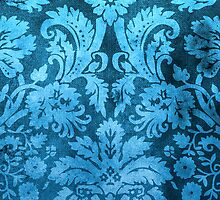 Blue Decorative Vintage Flowers by Rewards4life