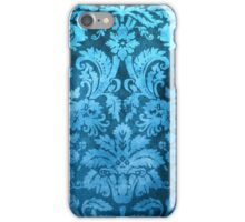 Blue Decorative Vintage Flowers iPhone Case/Skin