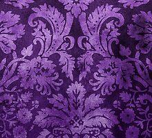 Purple Decorative Vintage Flowers by Rewards4life