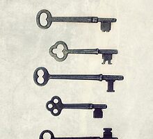 5 Vintage Keys IPhone Case by JillianAudrey