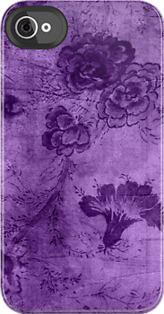 Purple Vintage Flowers Texture by Rewards4life