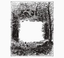 Forest Frame DictionaryArt Trees Ink Artwork  Kids Tee