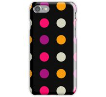 Candy Polka Dot Purple On Black iPhone Case/Skin
