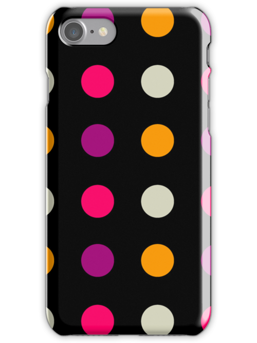 Candy Polka Dot Purple On Black by Rewards4life