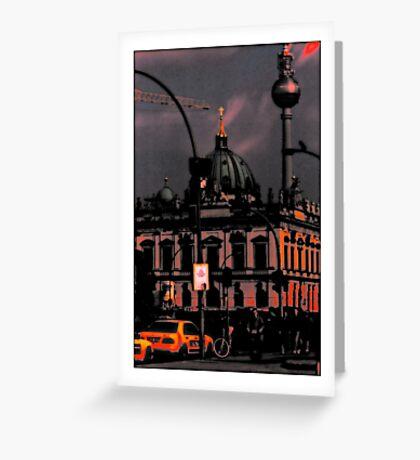 TV TOWER BERLIN Greeting Card
