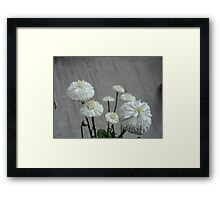 White...1 Framed Print