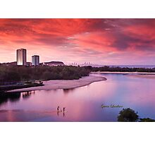 Red sunset, blue planet Photographic Print