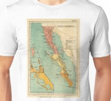 Vintage Map of Baja California (1899) Unisex T-Shirt