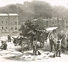 The Holly Cart Victorian Christmas 1848 by artfromthepast