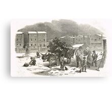 The Holly Cart Victorian Christmas 1848 Metal Print