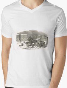 The Holly Cart Victorian Christmas 1848 Mens V-Neck T-Shirt