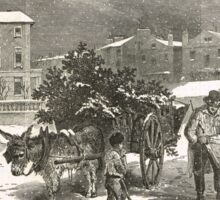 The Holly Cart Victorian Christmas 1848 Sticker