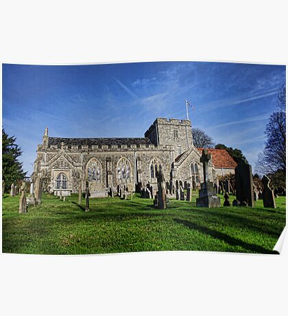 St Peter's Church, Boughton Monchelsea Poster
