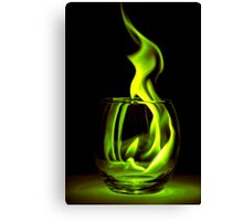 Just a Radioactive Flame Canvas Print