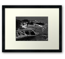 Coastal Monochrome ~ Part Two Framed Print