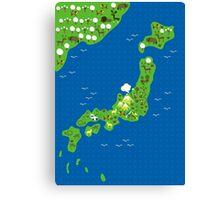 cartoon map of japan Canvas Print