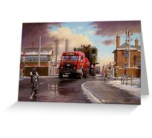Wynn's Foden Drawbar Tractor. Greeting Card