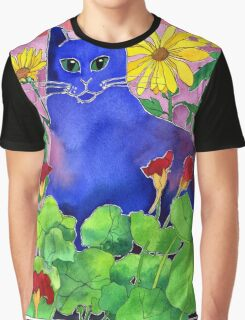 Sunset Cat Graphic T-Shirt
