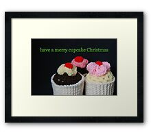 Cupcake Christmas Framed Print
