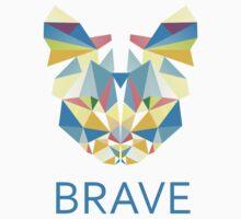 Brave Diamond Cat in Geometrical Triangles Kaleidoscopic Eye by XOOXOO