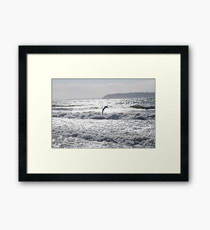 Riding the Storm Framed Print