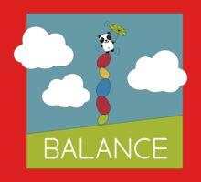 Panda Balance One Piece - Short Sleeve