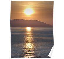 Exploding sun above Bay of Banderas - Sol explotando arriba de Bahia de Banderas Poster