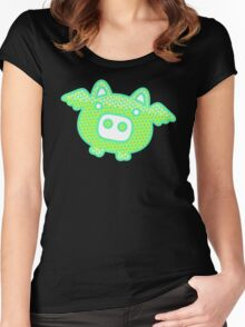 Out of Space Pig Women's Fitted Scoop T-Shirt
