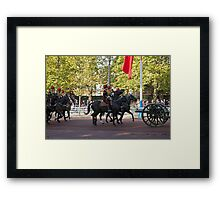 The King's Troop, Royal Horse Artillery in the Mall during the Chinese State visit Framed Print