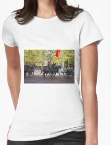 The King's Troop, Royal Horse Artillery in the Mall during the Chinese State visit Womens Fitted T-Shirt