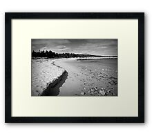 beach shadows Framed Print