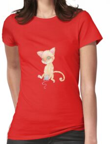 kitten and yarn Womens Fitted T-Shirt