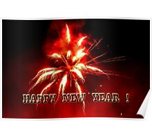 Happy New Year Firework Poster