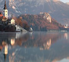 Morning at Lake Bled by Ian Middleton