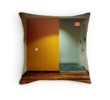 Yellow Exit Throw Pillow
