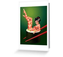 Sushi Girl Greeting Card