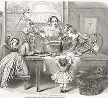 Victorian Christmas Pudding Making 1848 by artfromthepast