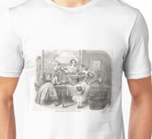 Victorian Christmas Pudding Making 1848 Unisex T-Shirt