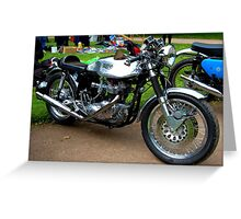 THE ULTIMATE 60s CAFE RACER-THE TRITON. Greeting Card
