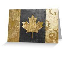 Canada Flag Fashion Gold Greeting Card